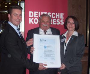 Zertifikatsübergabe TÜV Rheinland - EVB BauPunkt