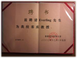 Gastprofessur der CUEB für Dr. Oliver Everling